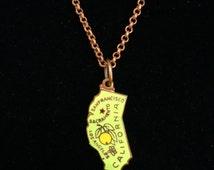 Vintage California Charm Necklace