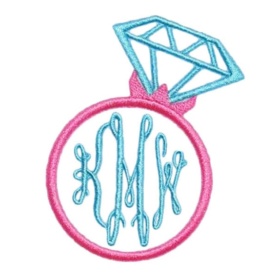 Wedding monogram ring embroidery designs by yetiemb on etsy
