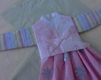 korean triditional clothing hanbok card
