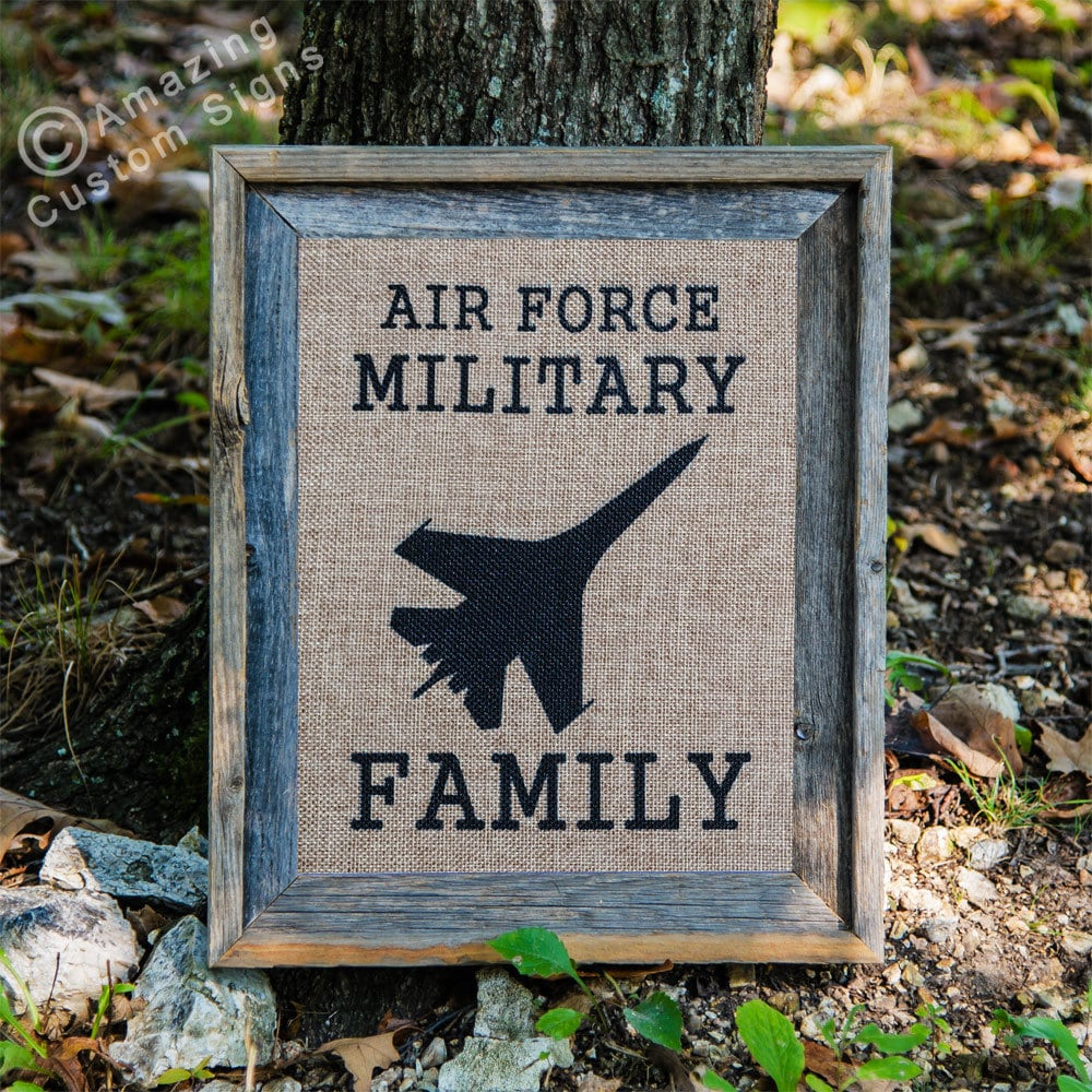 Military home decor sign air force military by for Air force decoration