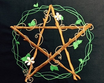 Natural Pentacle Altar Cloth