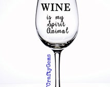 Unique funny wine glass related items etsy - Funny wine glasses uk ...