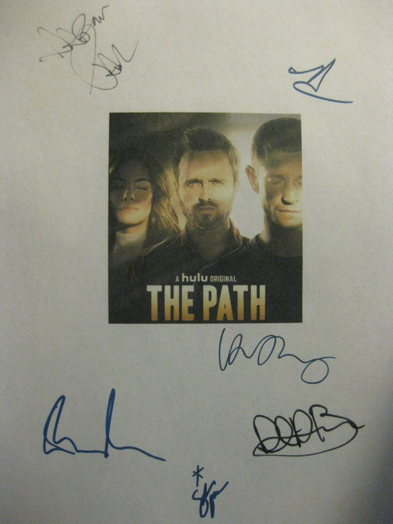 The Path Signed TV Pilot Script Screenplay X6 Autographs Aaron Paul Michelle Monaghan Hugh Dancy Emma Greenwell Rockmond Dunbar Sarah Jones