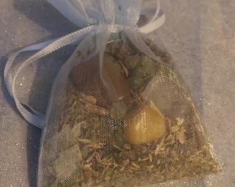 ON SALE NOW! Abundance/Money Spell Kit - Spell Satchel - Magic Spell - Abundance - Luck - Prosperity - Reiki Infused Sacred Herbs, Crystals