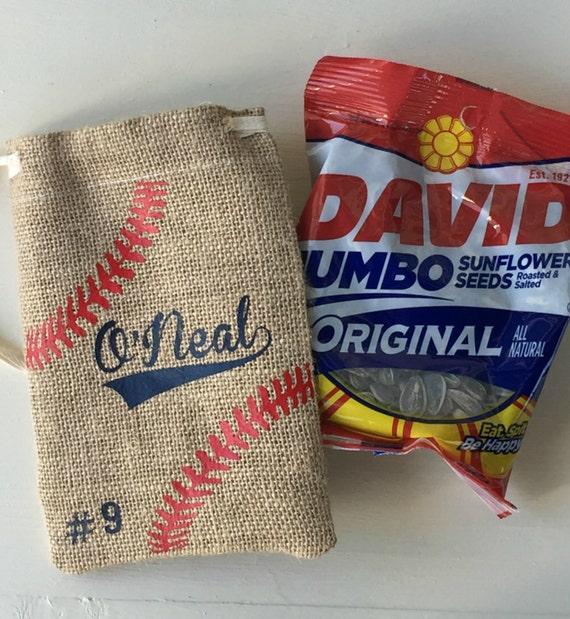 baseball sunflower seeds bag personalized seed bag