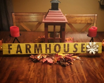 "Wall decor, home decor, rustic ""Farmhouse"" pallet sign."