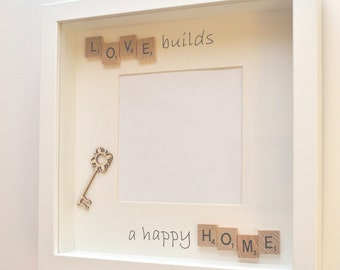 Scrabble frame/photo frame - new home/house warming gift