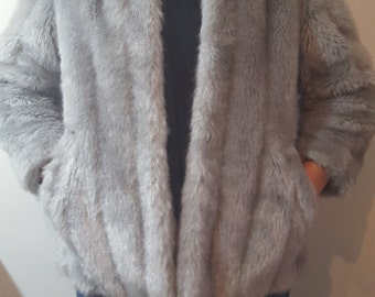 Faux Fur Coat- Grey