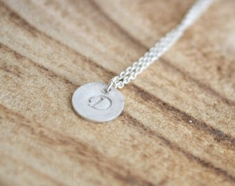 Personalized Monogram Sterling Silver Letter Necklace/ Gepersonaliseerde monogram sterling zilveren letter ketting