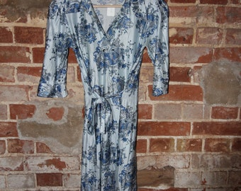 Pretty Blue Flowered Dress