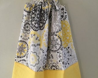 Grey and Yellow Pillow Case Dress