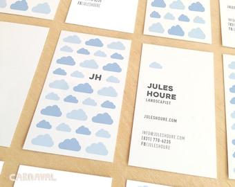 Business Card. Digital Business Card. Branding. Cute clouds Calling Card