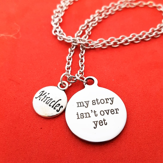 Semicolon Project Jewelry, My Story Isn't Over Yet Charm Necklace, Semi Colon Faith Courage Christian Inspirational Gift, Suicide Prevention