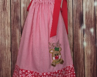 Christmas Pillowcase Dress, Dress for Christmas, Pillowcase Style Christmas dress