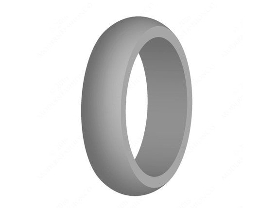 Women39s gray silicone wedding band engagement ring best for Top silicone wedding rings