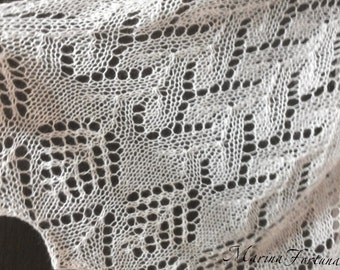 Shawls knitted knitting mohair openwork