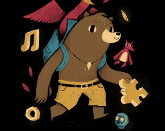 The Collectors Banjo Kazooie T-shirt / rareware n64 / retro classic gaming