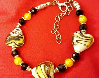 Black and Yellow Love Bracelet
