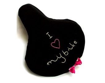 Romantic I love my bike seat cover saddle cover bike bicycle love black bicycle accessories