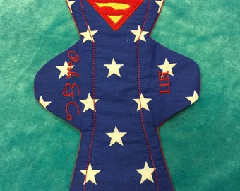Superman inspired cloth pad
