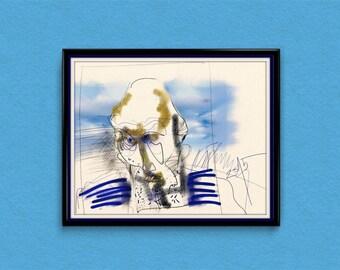 """Digital art drawing - """"Fisherman"""""""
