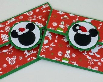 Mickey Mouse Christmas Gift Card Holder Set of 2