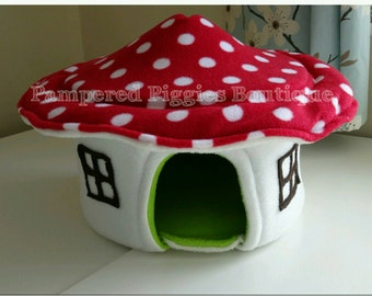 Red Toadstool HOUSE for guinea pig hedgehog rat