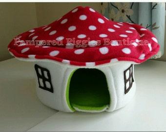 Red Toadstool HOUSE for guinea pig hedgehog rat