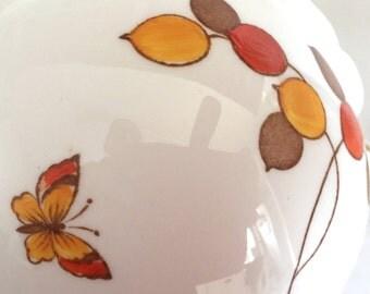 Beautiful butterflies! Antique tea for two set. Blyth Diamond China c1910