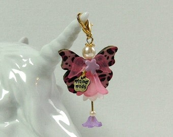 Adorable Butterfly fairies - new Animal Angels! -Charm and pendant for pet lovers