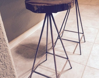 Live Edge Bar Stool