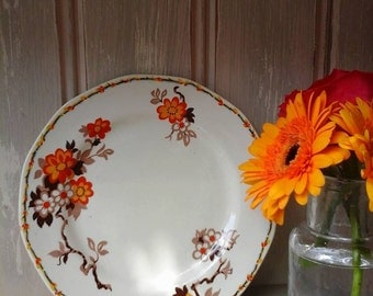 Vintage tea plates,Barker Bros plates,Royal Tudor ware,1940s plate,1940s china,orange blossom china,vintage,plates,cake plates,tea plates