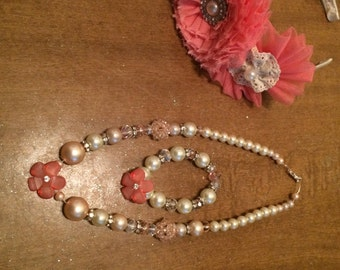 Toddler jewelry necklace and bracelet