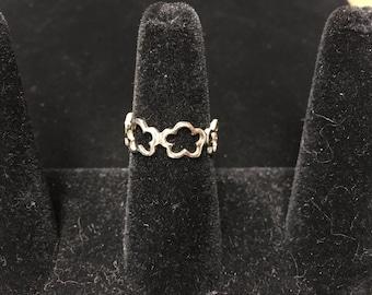 Vintage Ring, 925, Open Floral
