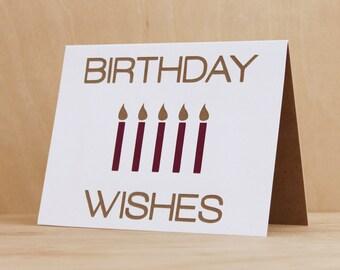BIRTHDAY WISHES // Birthday Card Handmade, Birthday Card Best Friend, Classy Birthday Card, Birthday Card for her, Birthday Card for him