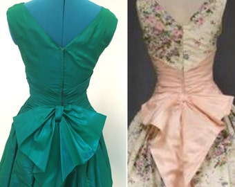 Vintage Green Party Dress 1950's | Betty Draper