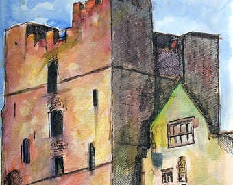 Castle Keep in Colour, Ludlow