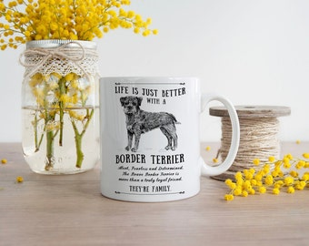 Border Terrier Mug ~ Perfect Gift can be personalised