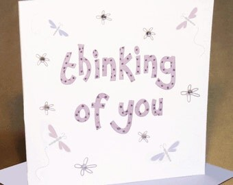 Thinking Of You Card  (jewelled)