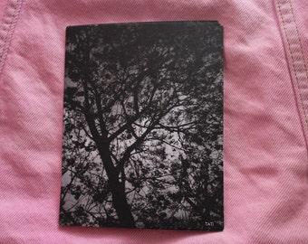 Black and White Print Postcard