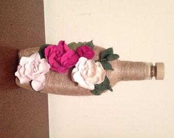 Handmade decorative botlle, art botlle, botlle for gift, exclusive gift, botlle