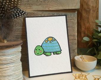 Timothy Turtle -- Nursery Decor -- 5x7 print