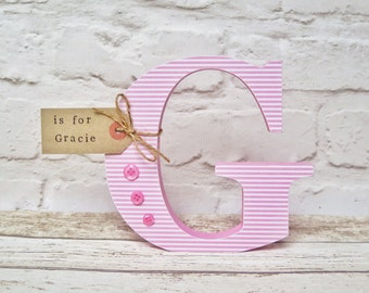 Freestanding wooden letters, personalised initial, name letters, wedding letters, letters for nursery, nursery decor, baby shower,