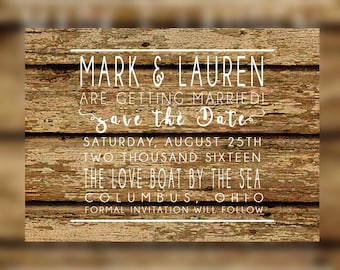 Save the Date Cards for weddings, Rustic Save the date, Save the date cards, Save-the-Date, Rustic Wood Announcement, Barn Wedding Invite