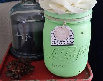 "Vase ""The perfect"" green ""Just for you"" Provence #leparfait #mariage"
