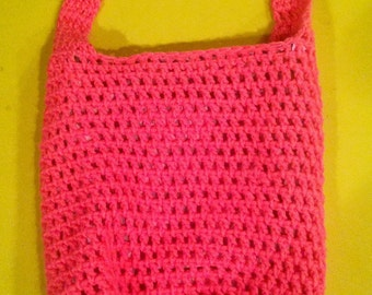 Lined Crochet Tote Bag