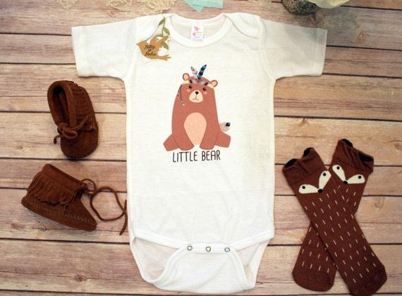 Little Bear esie Boho Baby Clothes Baby Boy by BittyandBoho