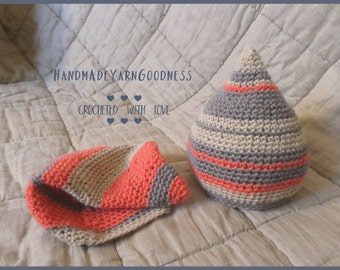 Nice cozy crocheted hats for him & her, Couple hats