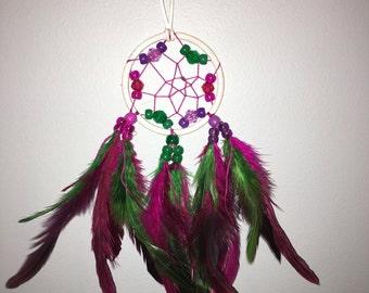 Green, purple, magenta dreamcatcher