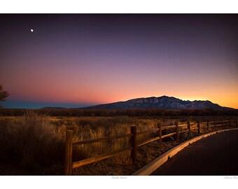 Sandia Sunset Landscape Photograph